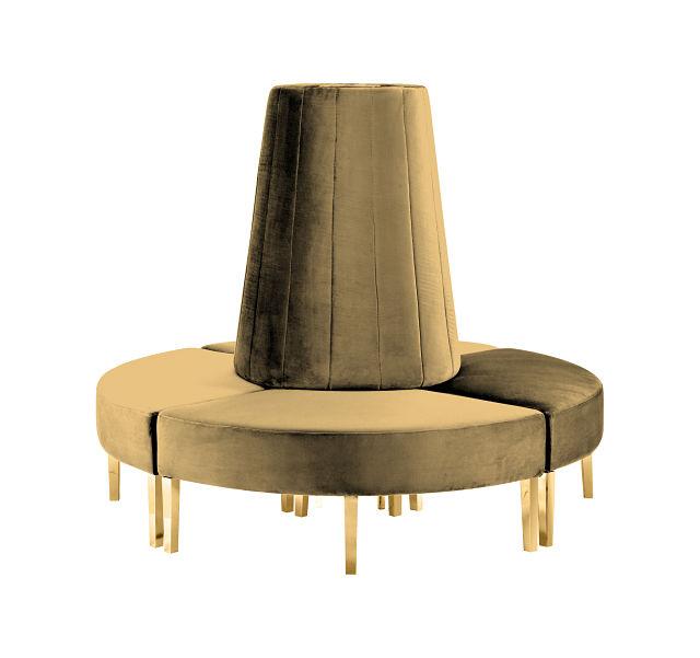 circle sofa gold