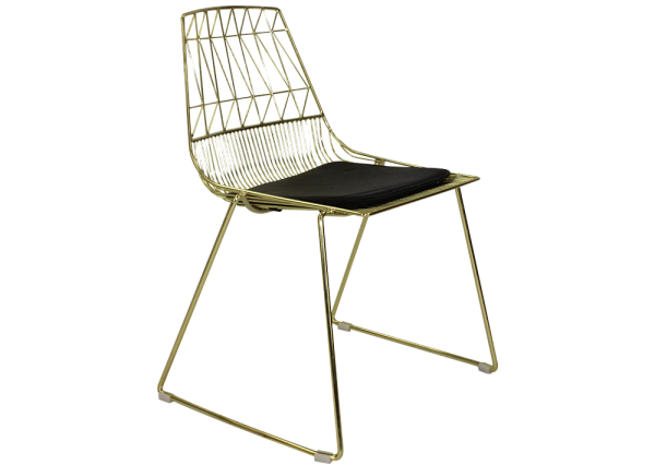 gold wire chair rental
