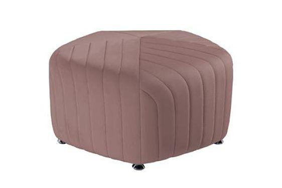 pink round ottomans