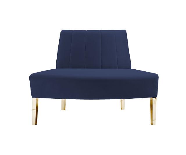 round sofa blue