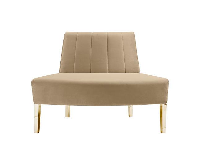 round sofa gold