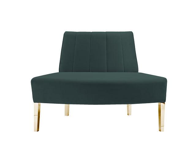 round sofa green