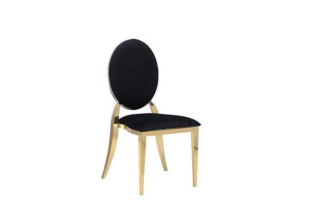 black and gold dining chairs