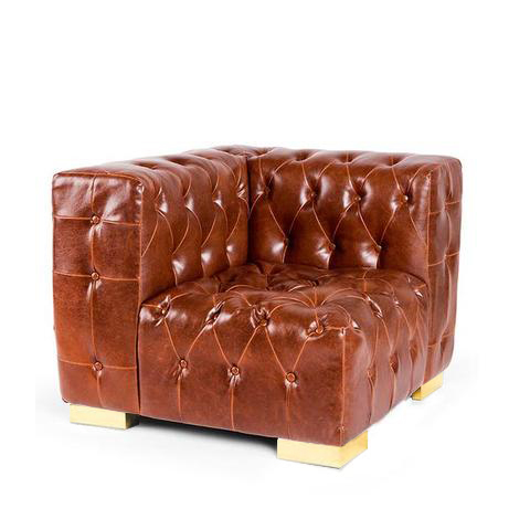 tufted brown couch rental