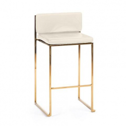gold white bar stool