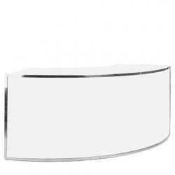silver frame curve bar
