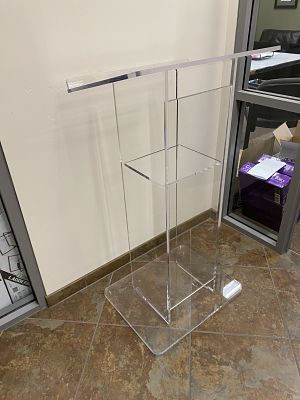 clear podium rental