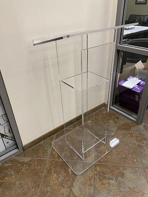 clear podium rental