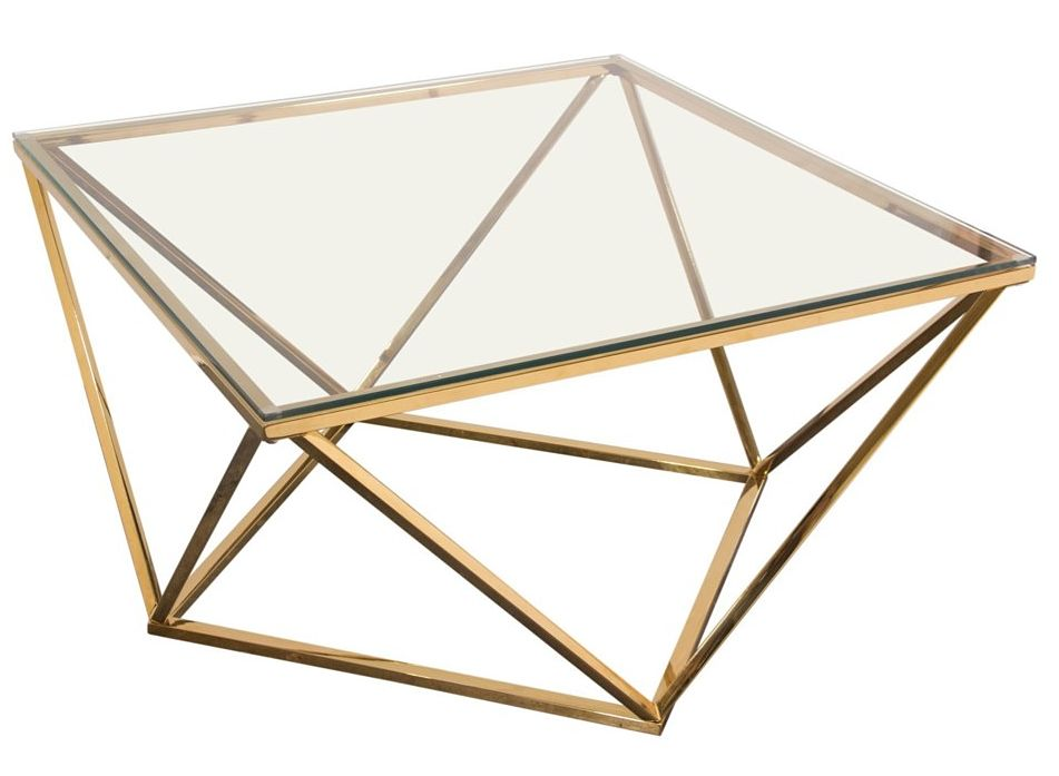gem coffee table gold