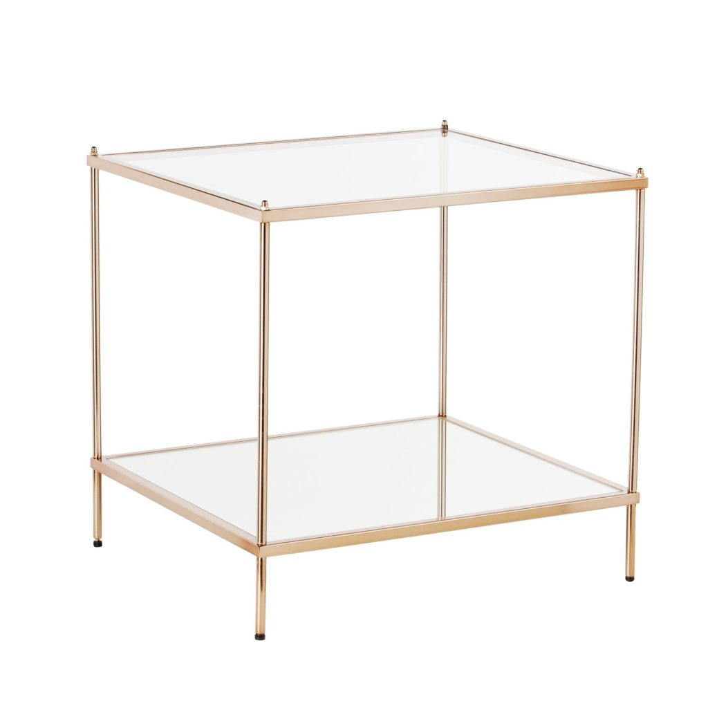 knox gold side table