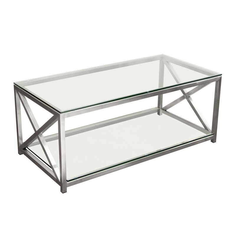 silver coffee table frame rental