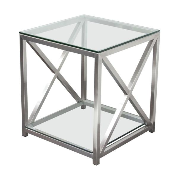 silver side table rental