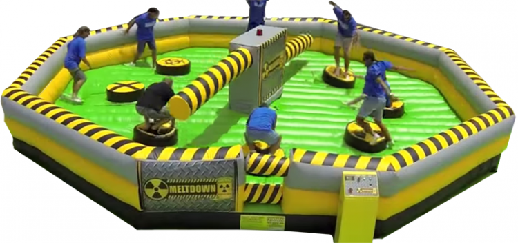 meltdown spinning game