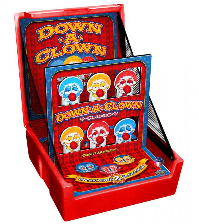 down a clown carnival game