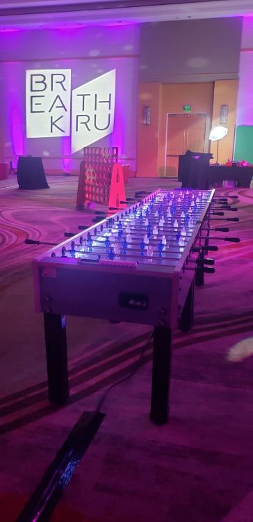 Giant Foosball Table