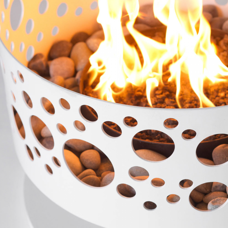 white fire pit rental