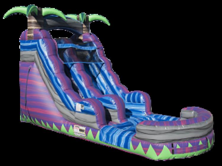 16ft Purple Crush Water Slide