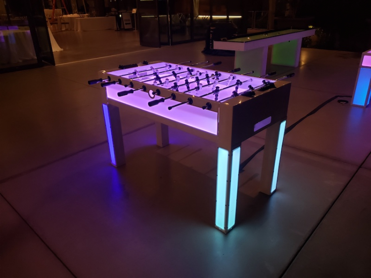 Glowing Foosball Table