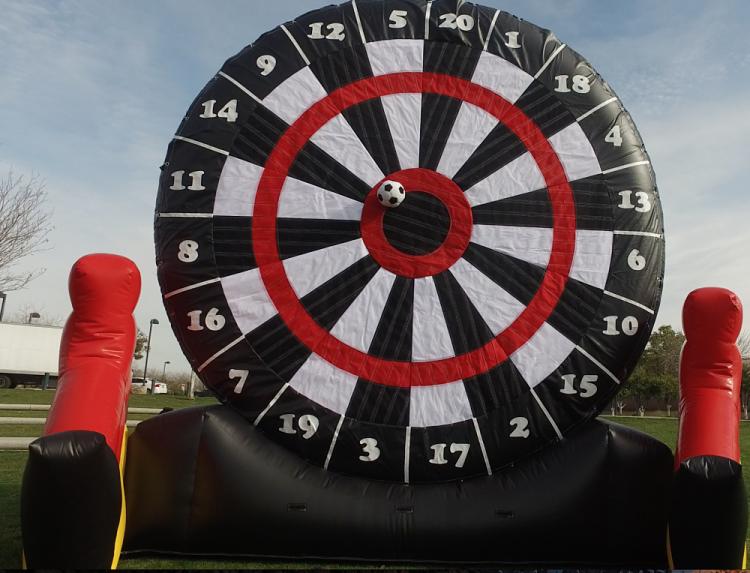 giant soccer dart game