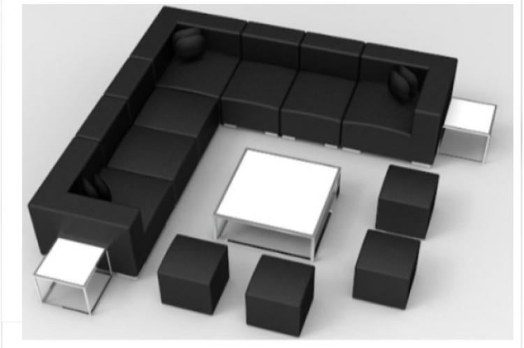 Lounge Package - Mondrian - 12 x 12 - Black