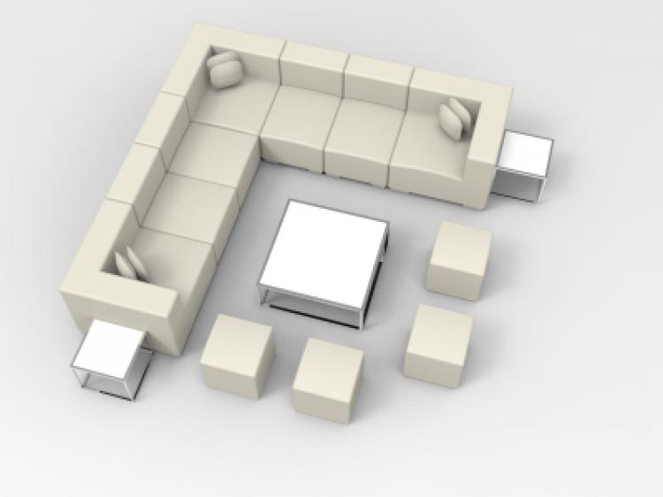 Lounge Package - Mondrian 12 x 12 - White