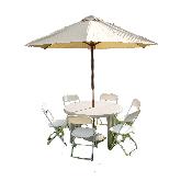 60 inch Round Table w/ Umbrella