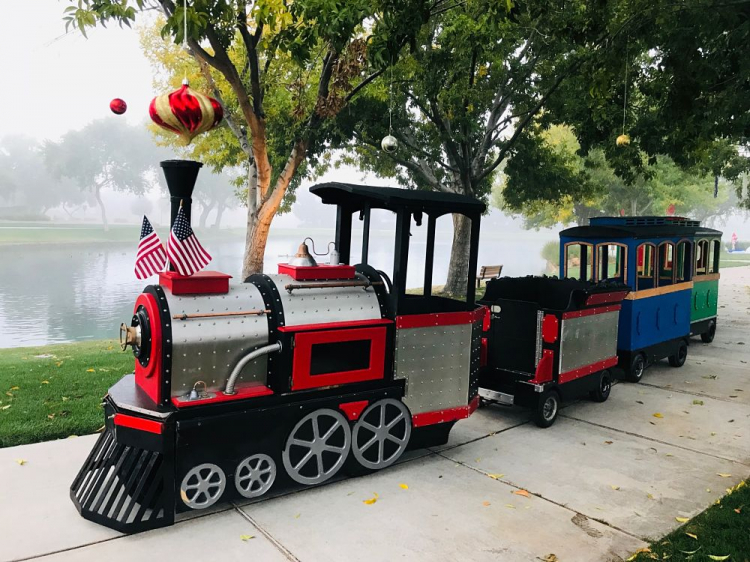 rent trackless train az