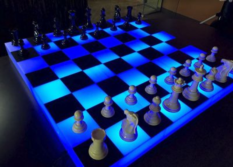 Glowing Giant Chess