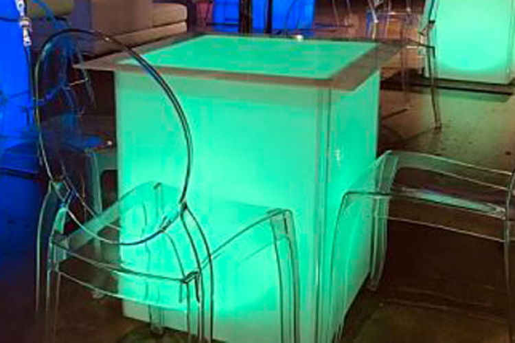 Glowing Cube Cocktail Table- 30 inch height