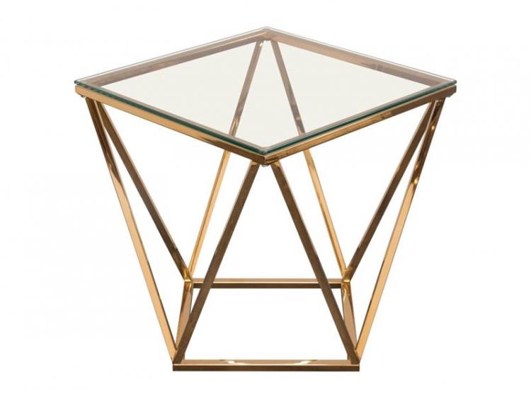 Side Table - Gem - Gold Frame
