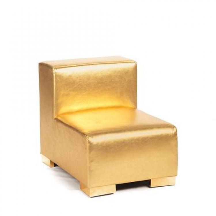 Mondrian - Middle Armless - Gold Metallic