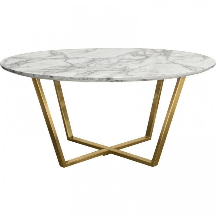Coffee Table - Vida Round - Brushed Gold