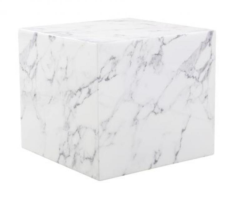 Side Table - Draper - White Carrera Marble