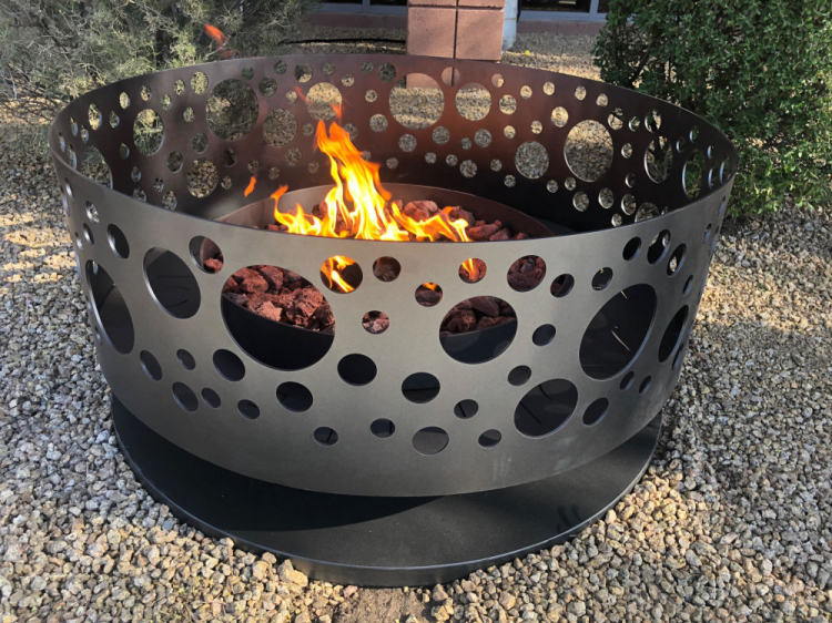 modern fire pit rental