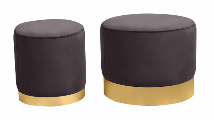 Ottoman Set - Wee and Stout - Graphite
