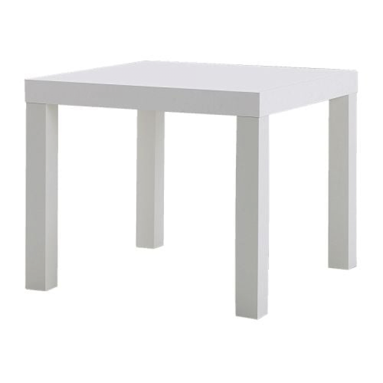 Side Table - Vaseo Cube - White