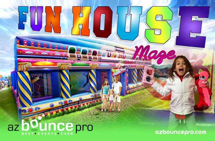 fun house maze rental
