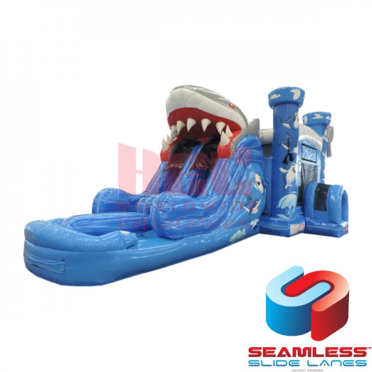 Shark Dual Lane Combo Bouncer - Wet