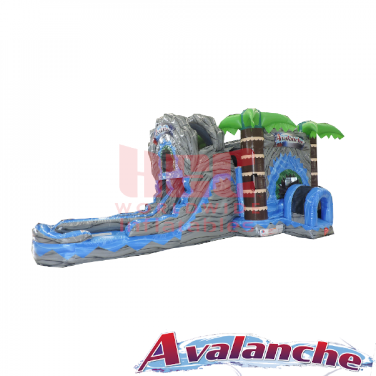 Avalanche Dual Lane Combo Bouncer - Wet
