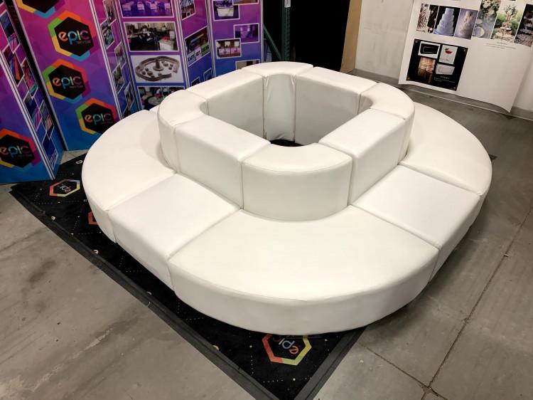 Mondrian - Circular Couch XL - White