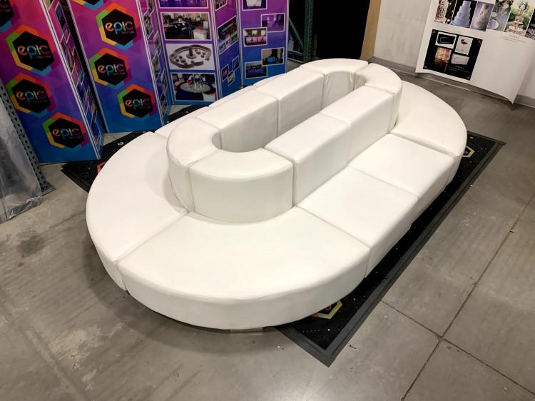 Mondrian - Oval Lounge XL - White