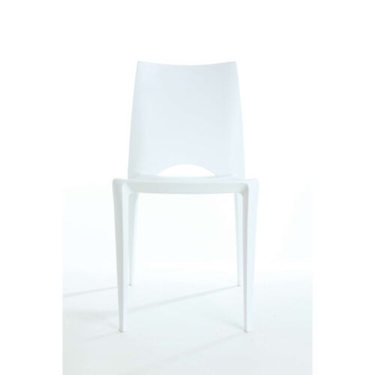 Dining Chair - White - Crescent