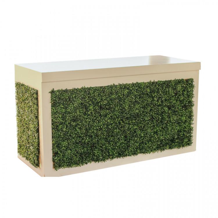 Bar - Brooks 6ft Wood - White - Green Front